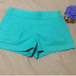 J. Crew side zipper shorts with pleats